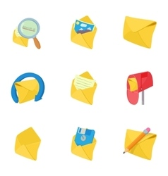 Letter icons set cartoon style vector image vector image