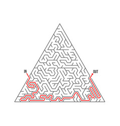 Maze icon labyrinth puzzle with solution vector