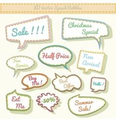 speech bubbles 3d with sale text vector image vector image