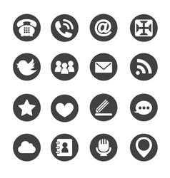 Web communication icons internet set vector image vector image