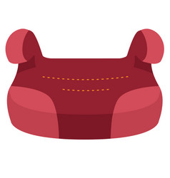 Baby car seat group 3 front view isolated on a vector