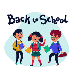 back to school banner design with colorful vector image