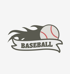baseball logo badge or label design template vector image