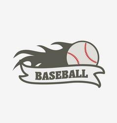 baseball logo badge or label design template vector image