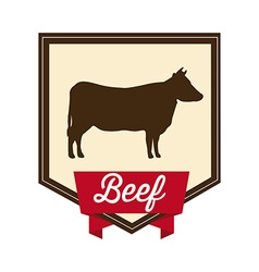 beef design vector image