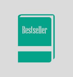 Bestseller book icon vector