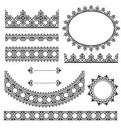 black vintage design elements vector image