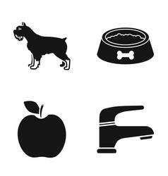 Breed cooking and or web icon in black stylevet vector