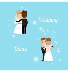 Bride and groom wedding dance vector image