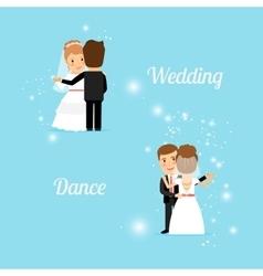 Bride and groom wedding dance vector
