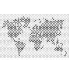 button dot world map vector image