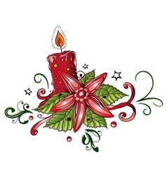 Candle christmas vector image