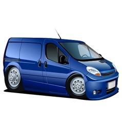 cartoon delivery van vector image