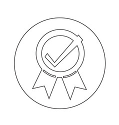 certified seal icon design vector image