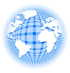 checkered pattern earth vector image