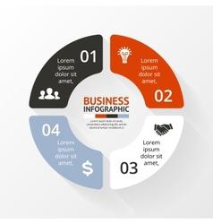 Circle infographic Diagram graph presentation vector image