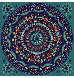 Circular pattern in ethnic style Hand drawn vector