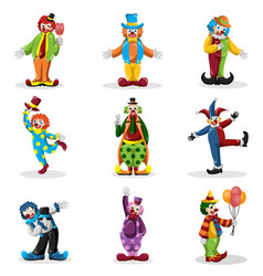 Clown icons vector