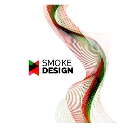 Color smoke wave on white - design element vector image