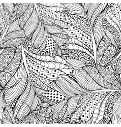 Coloring book page design with Feather Pattern vector image