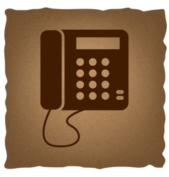 Communication or phone sign vector image