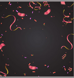 confetti falling on background vector image