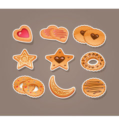 Cookie set vector
