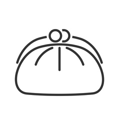 Cosmetics bag line icon vector