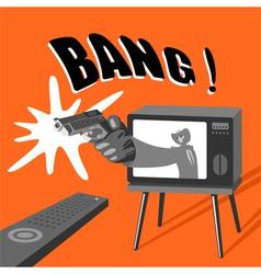 Dangerous tv vector