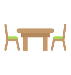 dining table flat icon furniture and interior vector image