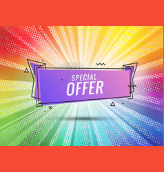 discount banner shape special offer badge sale vector image
