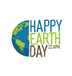 earth day logo design happy earth day 22 vector image