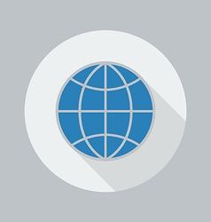 Eco Flat Icon Globe vector image