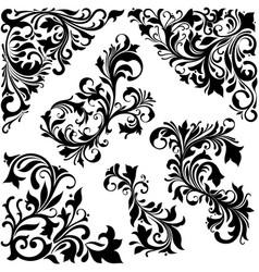 Elegant baroque floral concept vector