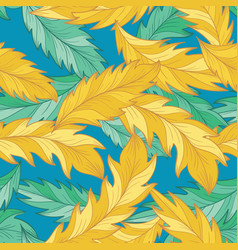 elegant pattern with detailed palm feather vector image