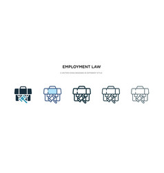employment law icon in different style two vector image
