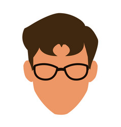 Face man adult business avatar vector