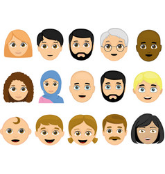 face various people vector image