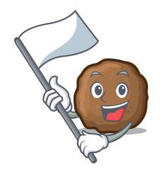 Flag meatball mascot cartoon style vector