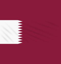 Flag qatar swaying in wind realistic vector