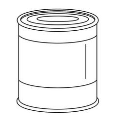 Food tin can icon outline style vector
