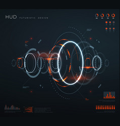 Futuristic virtual hud interface technology vector