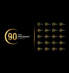 golden anniversary celebration emblem design vector image