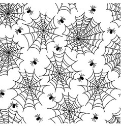 Halloween party decoration spider web seamless vector