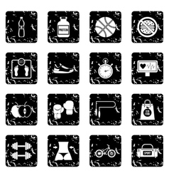 Healthy life icons set vector