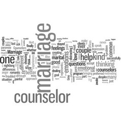 How to find a good marriage counselor and save vector