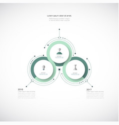 Infographics 3d paper cycle diagram template vector