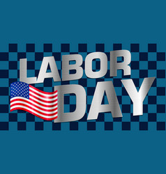 lettering labor day vector image