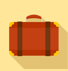 luggage bag icon flat style vector image