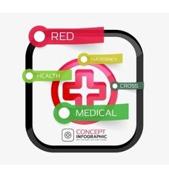 medicine cross infographic concept vector image
